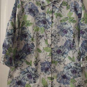 Women's Blouse Floral Print Size XL